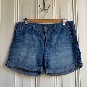 Banana Republic Blue Cotton Denim Shorts